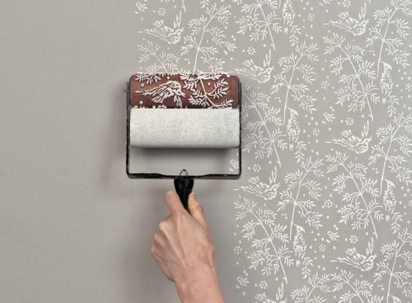 Мастер на час - покраска стен и декорирование стены с помощью специального валика