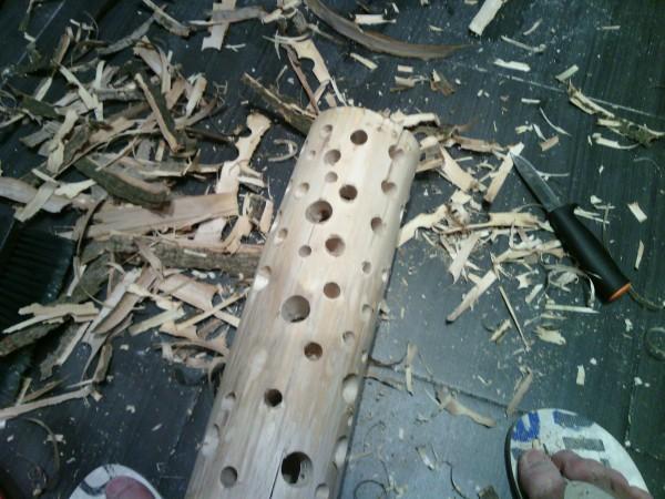 Светильник своими руками. Обработка дерева
